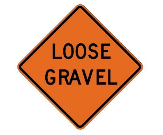 Loose Gravel Roll-Up Construction Signs W8-7-RU