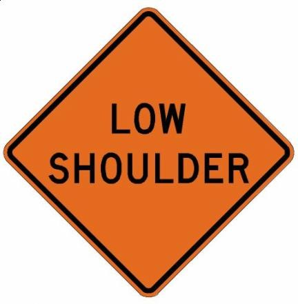 Low Shoulder Roll-Up Construction Signs W8-9-RU