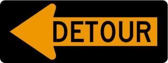 Detour Arrow Left Signs M4-10L