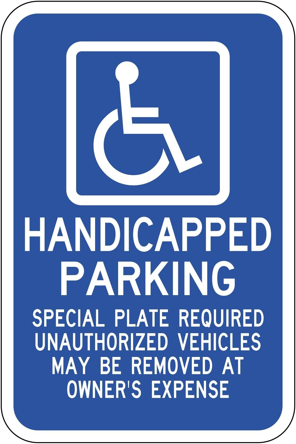 Massachusetts Handicap Parking Sign R7-8 ma