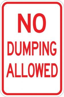No Dumping Allowed Sign AR-115