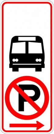 No Parking Bus Stop Symbol R7-107a