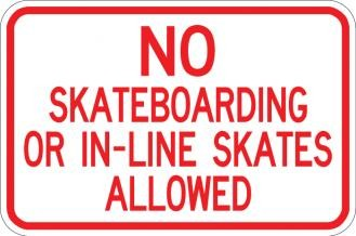 No Skateboarding or Skates