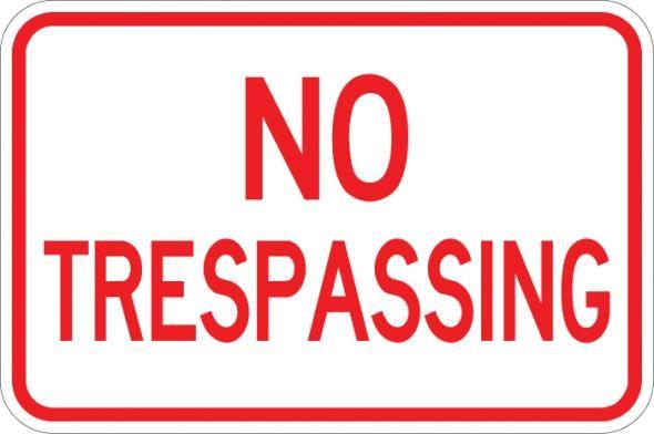 No Trespassing Sign AR-111