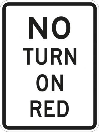 No Turn on Red R10-11a