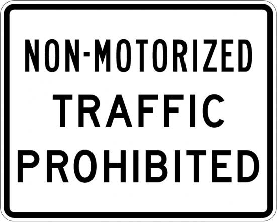 Non-Motor Traffic R5-7
