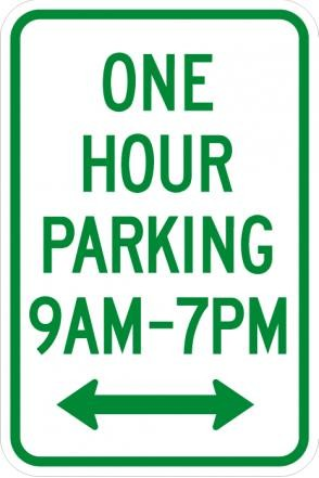 One Hour Parking (time limit) R7-5