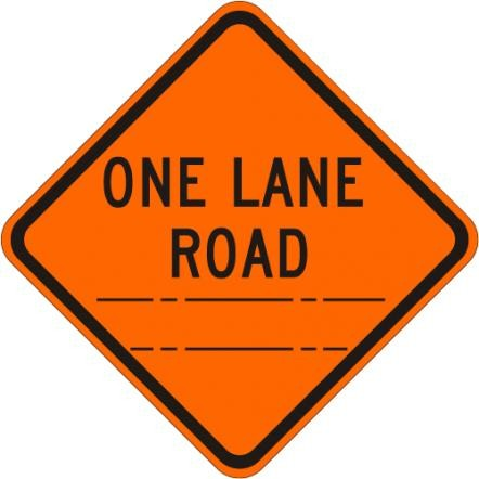 One Lane Road (distance) W20-4