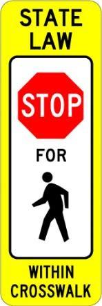 Pedestrian Crossing Stop R1-6a
