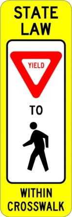Pedestrian Crossing Yield R1-6