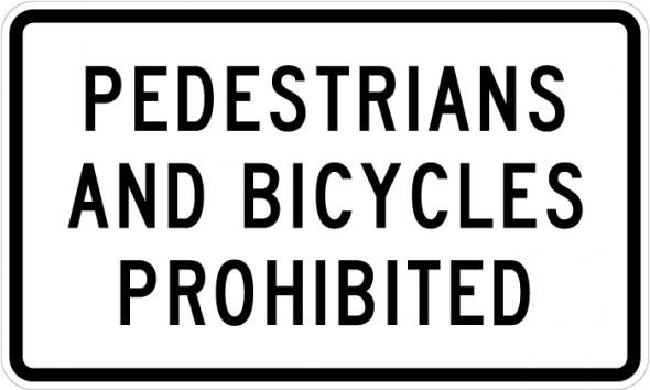 Peds and Bikes Prohibited R5-10b