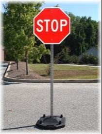 Portable Traffic Sign Stand HW-PB