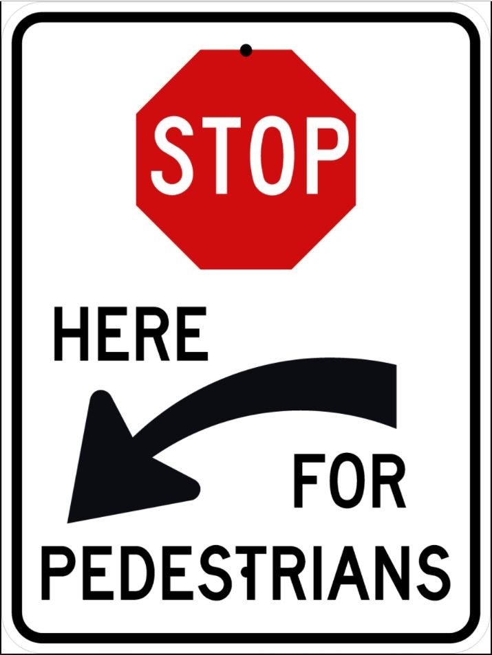 Stop for Pedestrians R1-5cL