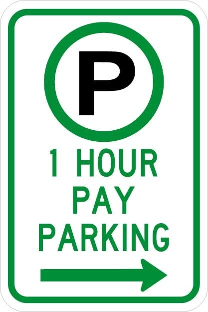 Parking Permitted XX Hour(s) Pay Parking Sign R7-21
