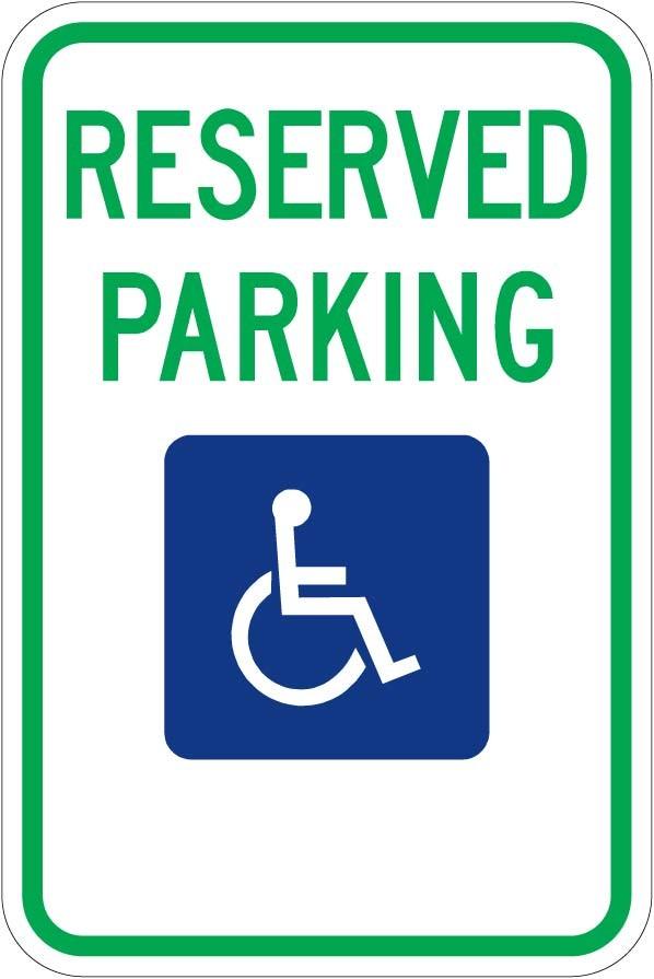 Reserved Handicap Parking R7-8 (Various States)