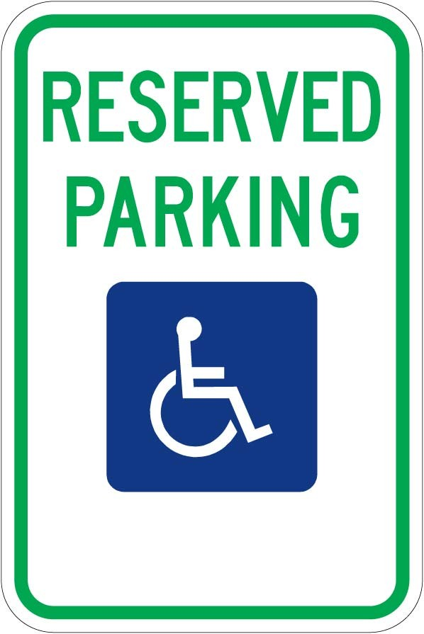 Montana Handicap Parking Sign R7-8MT