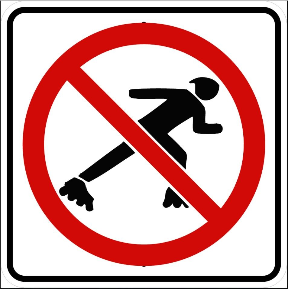 No Skaters Sign R9-13