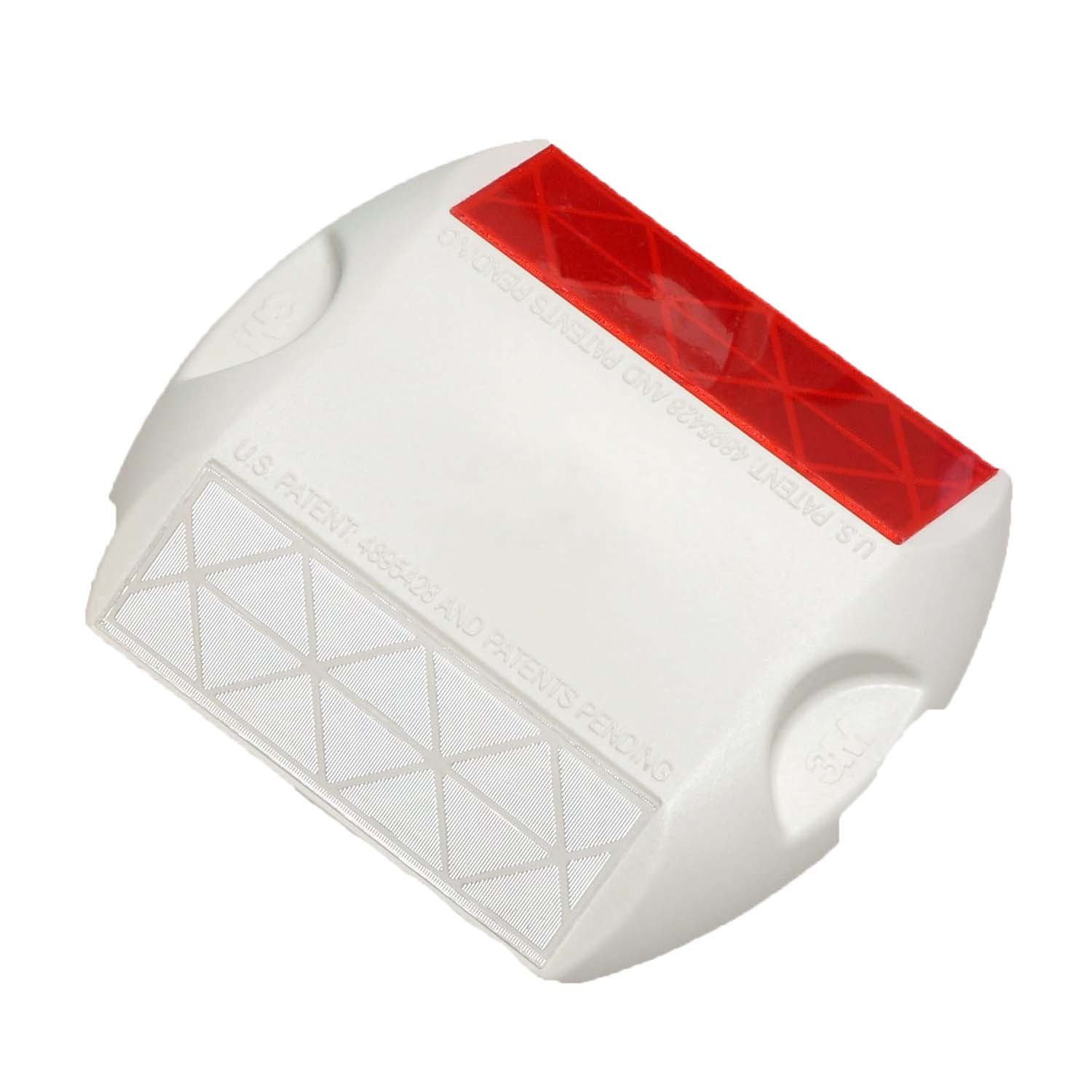 Two-Way White/ Red 3M Raised Pavement Marker Series 290 RPM-290-WR