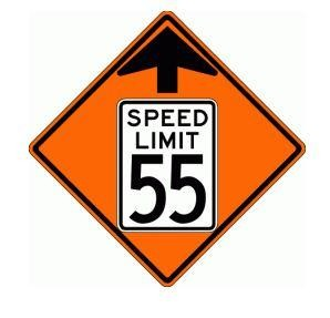 Reduced Speed Limit Ahead Roll-Up Construction Signs W3-5-RU