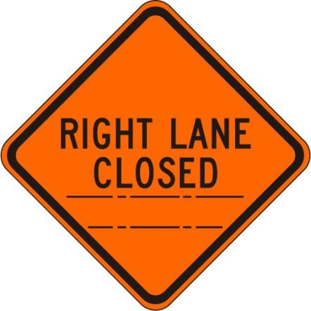 Right Lane Closed (distance) W20-5