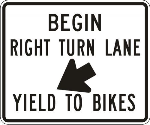 Right Turn Lane Yield to Bikes R4-4