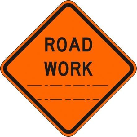 Road Work (distance) W20-1