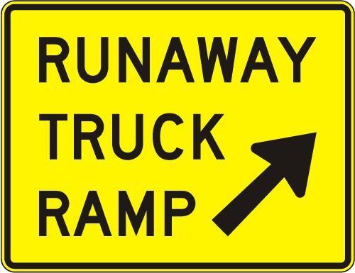 Runaway Truck Ramp (exit) W7-4B