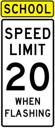 School Speed Limit Sign S5-1