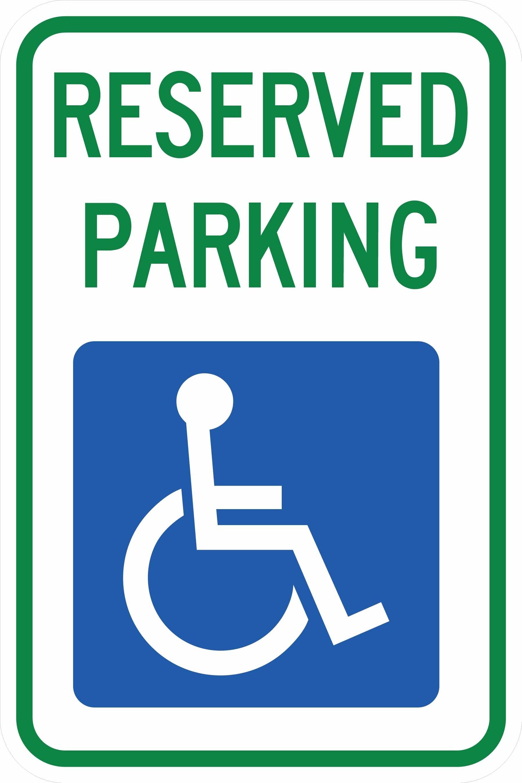 South Dakota Handicap Parking Sign R7-8 sd