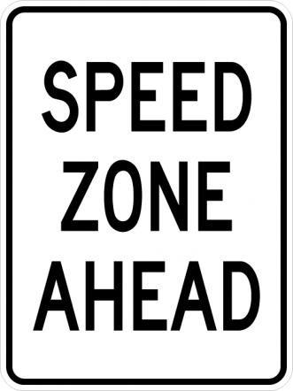 Speed Zone Ahead R2-5c
