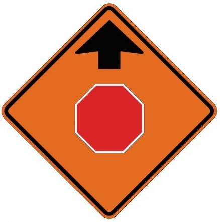 Stop Ahead Roll-Up Construction Signs W3-1-RU