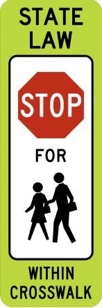 Stop Within Crosswalk R1-6c