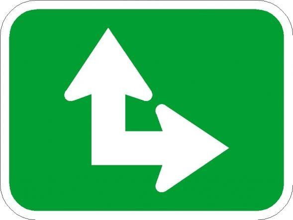 Straight Arrow Bike Signs M7-6
