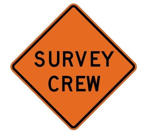 Survey Crew Roll-Up Construction Signs W21-6-RUvvv