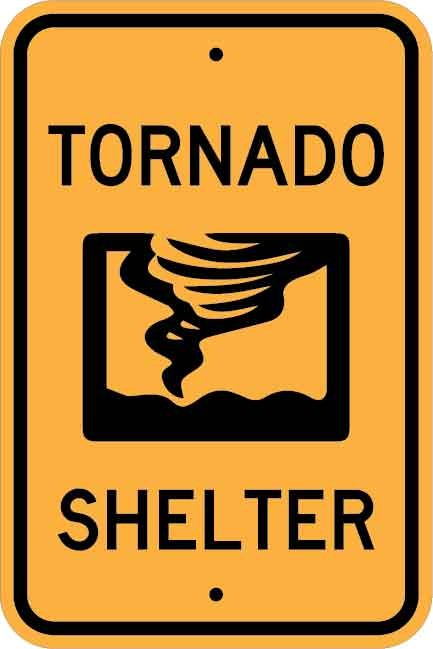 Tornado Shelter Sign AR-733