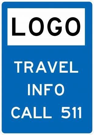 Travel Info Dial 511 Sign D12-5