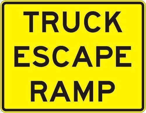 Truck Escape Ramp Sign W7-4C