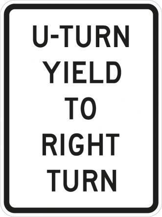 U-Turn Yield To Right Turn R10-16