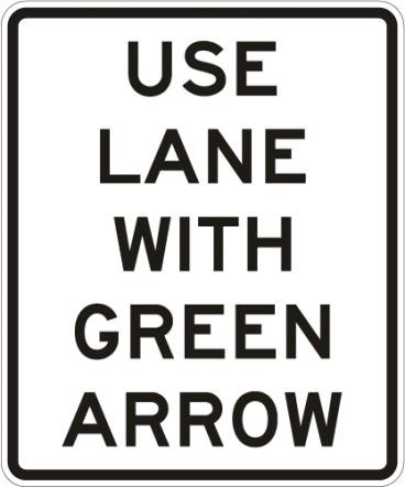 Use Lane Green Arrow R10-8