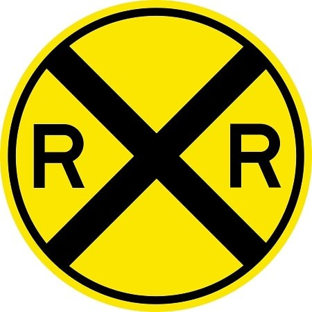Railroad Crossing Sign W10-1