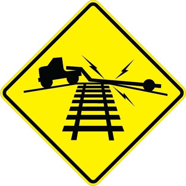 Rail Road Crossing Metal Traffic Sign Size=36x36