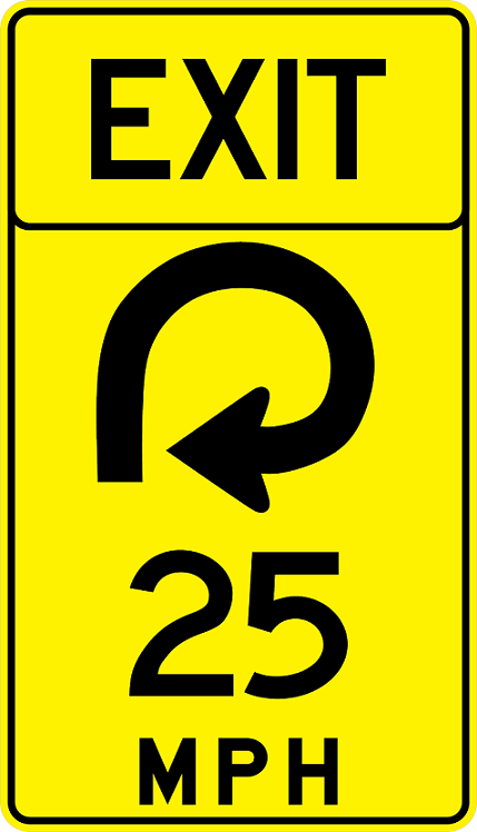 Advisory Speed (Exit) Signs W13-6