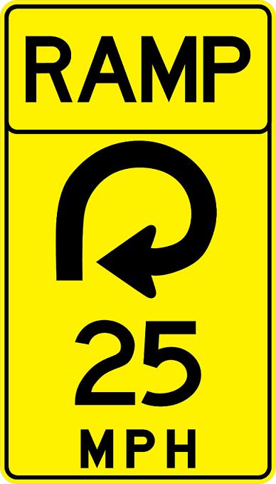 Advisory Speed (Ramp) Signs W13-7