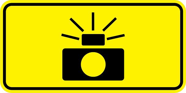 Photo Enforced Symbol Signs W16-10
