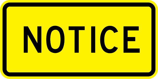 Notice Warning Signs W16-18