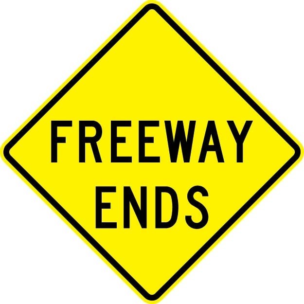 Freeway Ends Signs W19-3