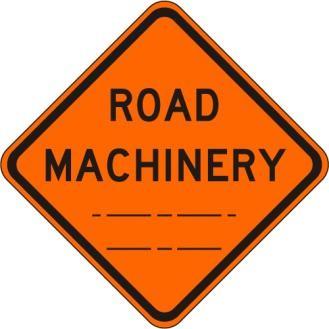 W21-3 Road Machinery