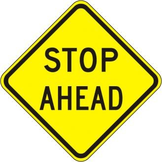 W3-1a Stop Ahead Sign