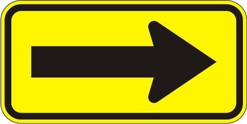 Warning Arrow W1-6R