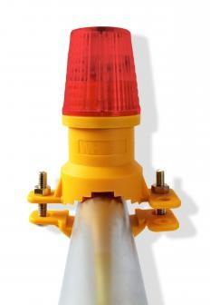 WHI Safeguard Red Vertical Mount Safety Lights